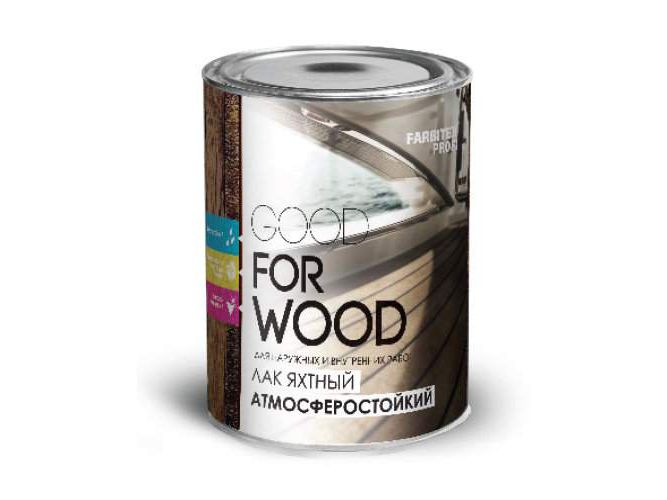 Лак яхтный FARBITEX ПРОФИ GOOD FOR WOOD атмосферостойкий  0,8л
